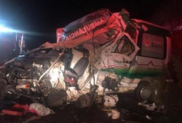 Uma pessoa morre em colisão entre ambulância e caminhão na BA-026 | Reprodução I Blog Marcos Afram