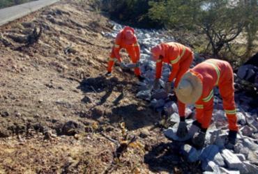 Obras de recuperação de estradas estaduais estão sendo executadas no Território do São Francisco