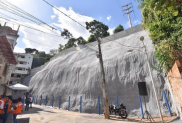 Contenção de encosta em Narandiba é entregue pela prefeitura   Max Haack   Secom