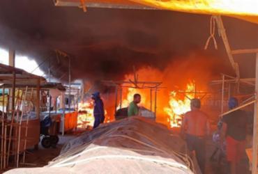 Incêndio atinge centro de abastecimento em Ipiaú | Reprodução | Giro Ipiaú