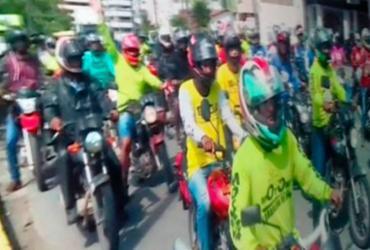 Motoboys fazem protesto por morte de colega em Ilhéus | Reprodução | Blog Pimenta