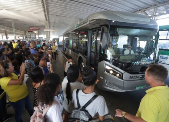 Ônibus 100% elétrico entra na segunda fase de testes em Salvador | Uendel Galter l Ag. A TARDE