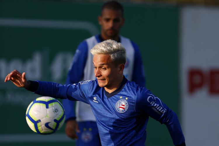 Tricolor fez treino recreativo para relaxar antes de jogo importante - Foto: Felipe Oliveira l EC Bahia