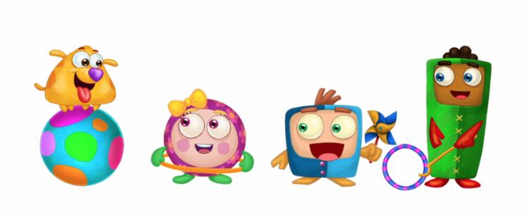 Para deixar Artur mais confortável, os personagens foram feitos como formas geométricas