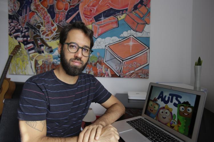 João Guerra, produtor executivo da série, diz que a animação é cheia de valor afetivo | Foto: Joá Souza | Ag. A TARDE