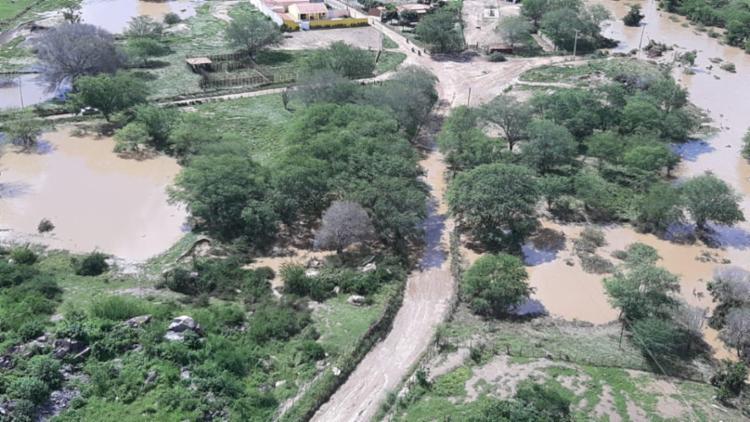 Cidade foi atingida por enchente, após a barragem de Quati romper