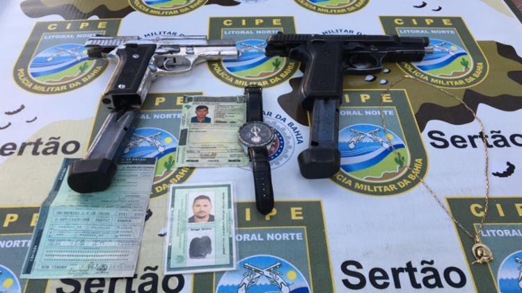 A dupla possuía passagens por roubos a bancos em outros estados - Foto: Divulgação | SSP