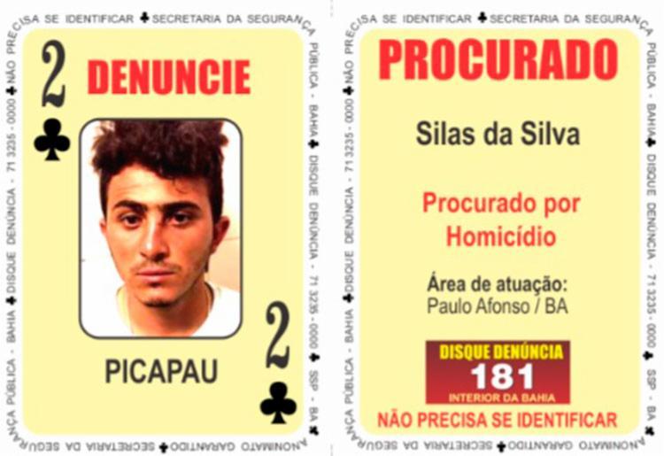 'Pica-pau' já possui mandado de prisão em aberto por homicídio e tráfico, e foi indiciado por crimes de trânsito, violência doméstica e porte ilegal de arma de fogo - Foto: Divulgação | SSP