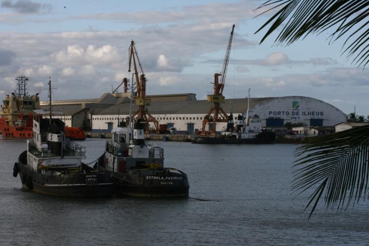 A embarcação estava atracada no Porto de Ilhéus - Foto: Joá Souza | Ag. A TARDE