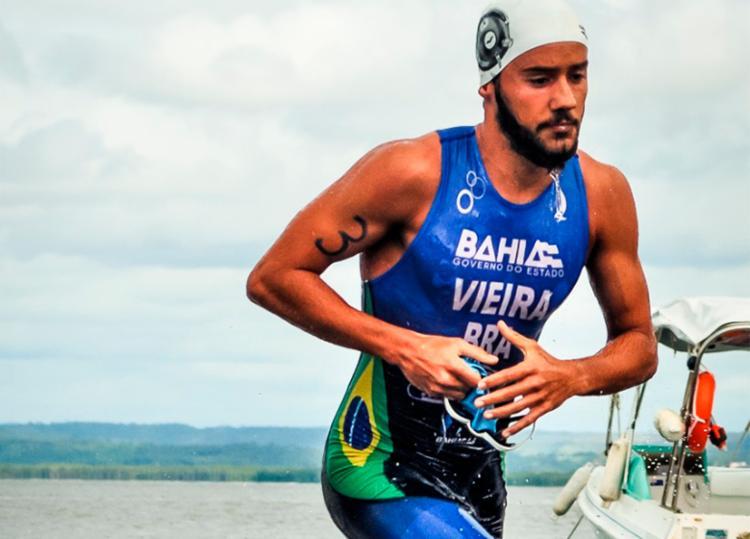 Atual campeão sub-23 da Copa Brasil de Triathlon, Bruno Vieira busca tetracampeonato baiano - Foto: Divulgação | Esporte Mundo