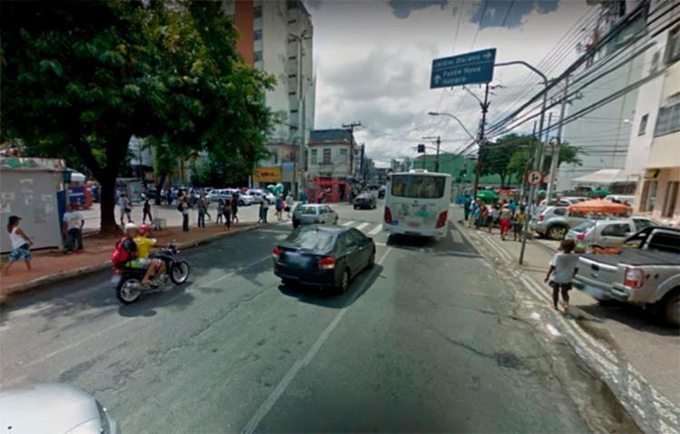 Região entre Joana Angélica e Campo da Pólvora terá o fluxo de veículos interditado neste sábado, 20 - Foto: Reprodução | Google Maps