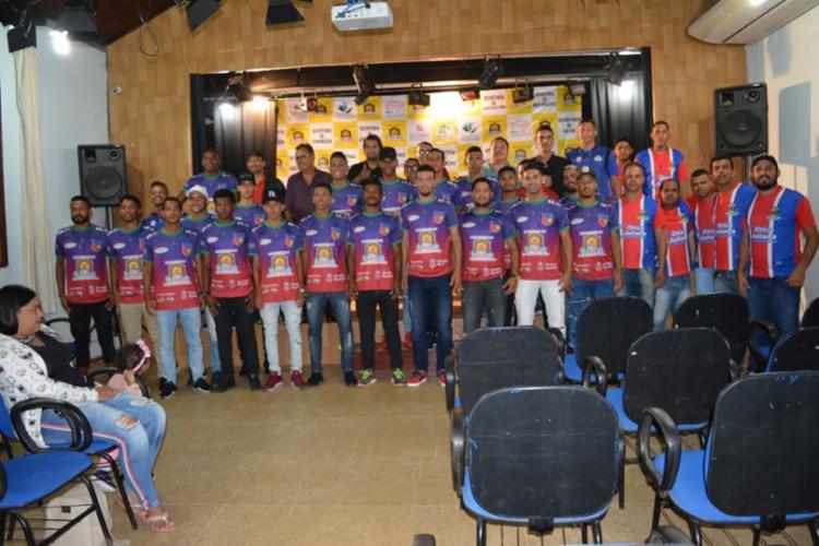 Jogadores canudenses são apresentados em cerimônia no Memorial Antonio Conselheiro - Foto: Divulgação