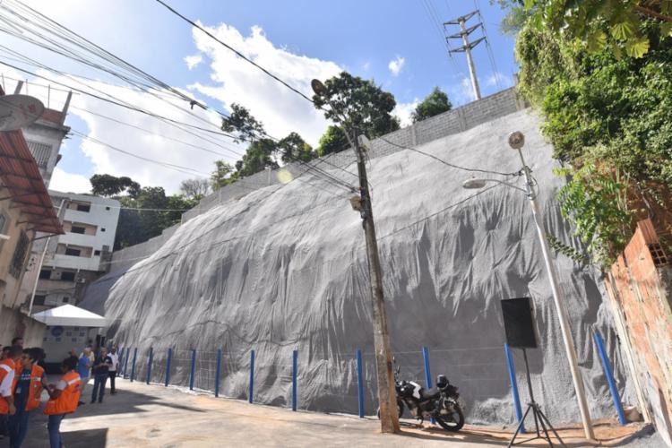 Técnica inovadora de proteção de áreas de risco vai trazer impacto positivo para 315 moradores da região - Foto: Max Haack | Secom