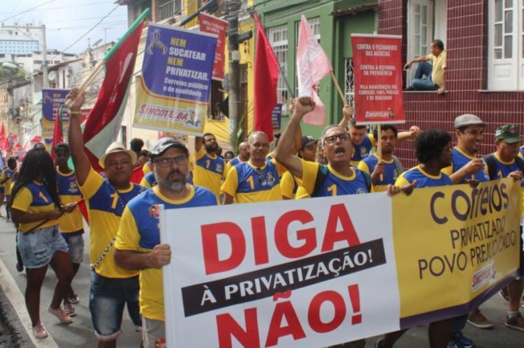 Trabalhadores de Salvador realizam assembleia nesta quarta - Foto: Reprodução I Sincotelba