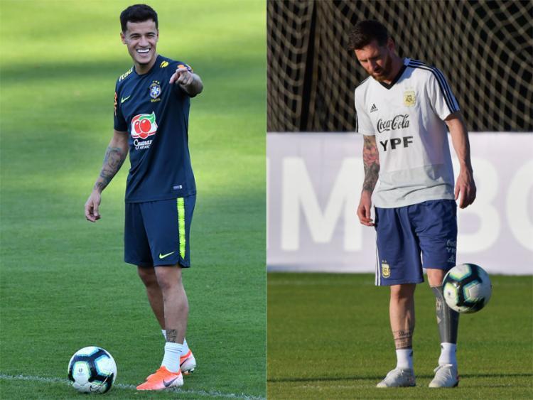 O Brasil acredita no seu crescimento coletivo e na defesa, que ainda não sofreu gol; Argentina, com uma equipe renovada, aposta no seu principal jogador: Leonel Messi - Foto: AFP