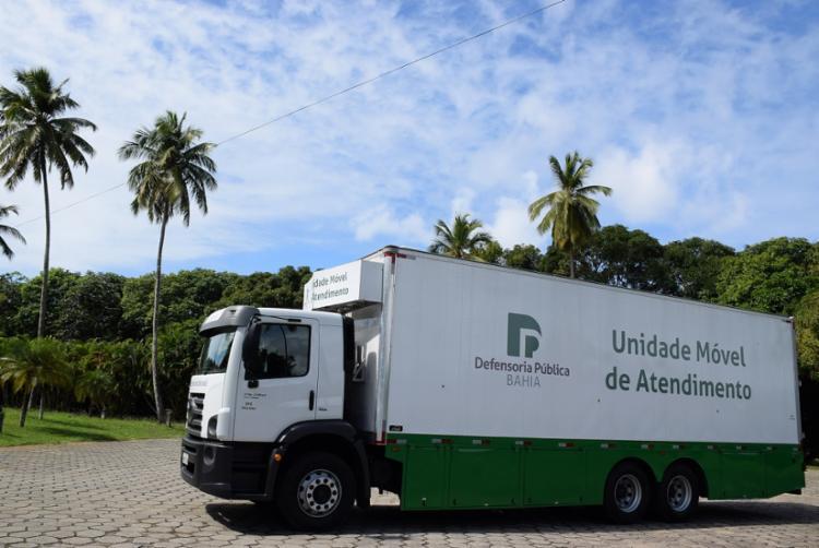 A Unidade Móvel de Atendimento ficará estacionada na Praça Marechal Deodoro da Fonseca, no centro da cidade. - Foto: Divulgação