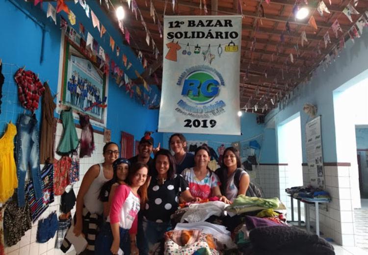 O Colégio Democrático Professor Rômulo Galvão promoveu oa 12ª edição do Bazar Solidário - Foto: Divulgação