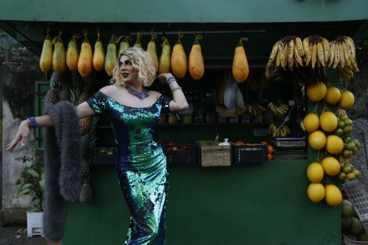 Desirée Beck é drag queen há quatro anos - Foto: Rafael Martins | Ag. A TARDE