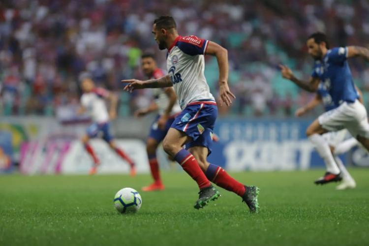 Com um a menos, Tricolor não saiu do zero contra o Cruzeiro - Foto: Uendel Galter | Ag. A TARDE