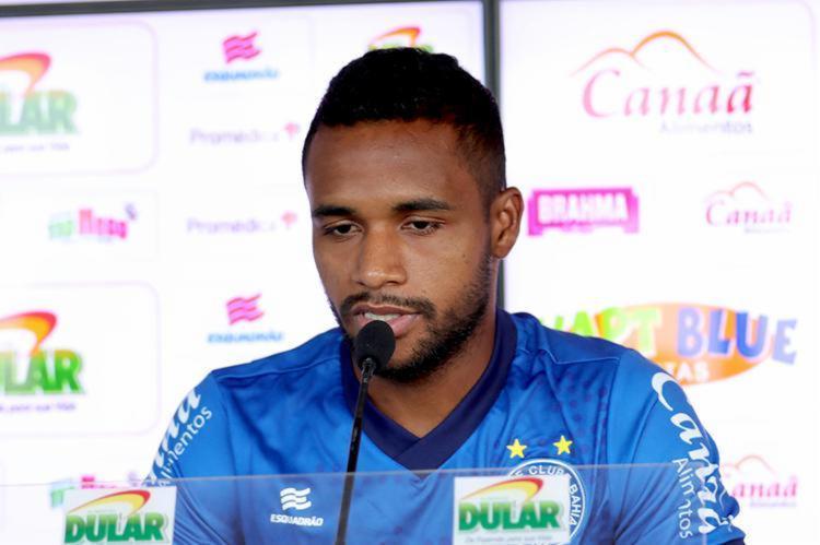 O atacante admitiu viver o seu melhor momento na carreira e espera melhorar sob o comando do técnico Roger - Foto: Felipe Oliveira | EC Bahia