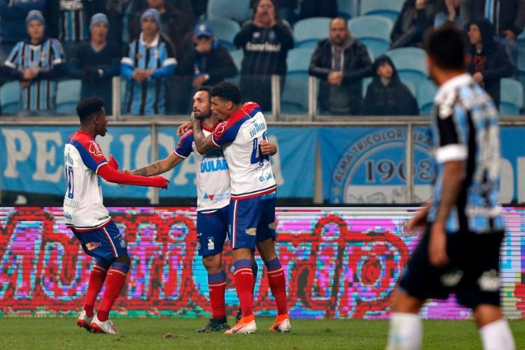 Gilberto foi o autor do gol que deu o empate ao Bahia - Foto: Felipe Oliveira | EC Bahia