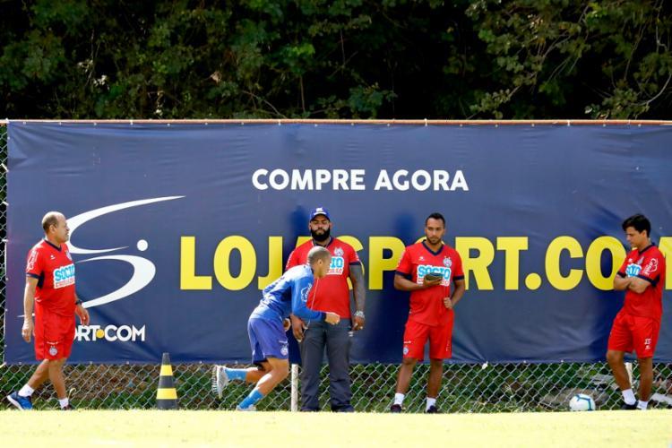 Nino Paraíba trabalhou em separado com o preparador físico Paulo Paixão - Foto: Felipe Oliveira | EC Bahia
