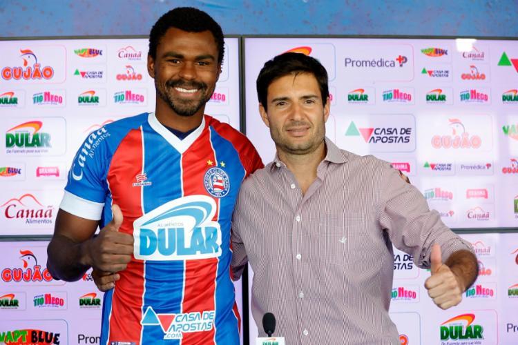 Wanderson foi um dos seis reforços trazidos pelo Esquadrão nesta temporada - Foto: Felipe Oliveira   EC Bahia
