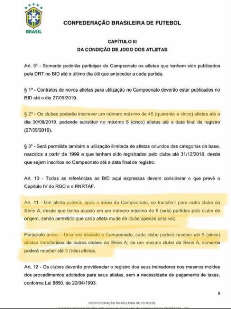 Regulamento do Campeonato Brasileiro