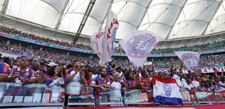 O clube chega a esta marca inédita no mesmo dia em que enfrenta o Grêmio em partida decisiva da Copa do Brasil - Foto: Adilton Venegeroles | Ag. A TARDE