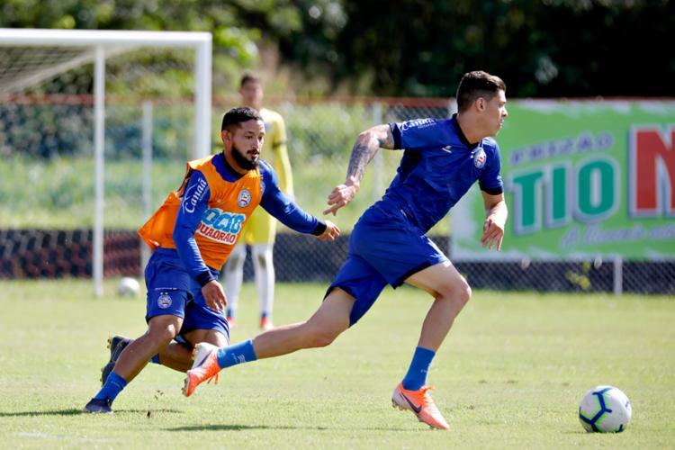 Jogadores participaram de um treino coletivo - Foto: Felipe Oliveira | EC Bahia