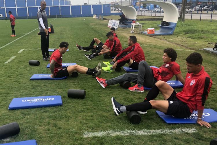 O Leão volta a treinar na manhã desta quinta-feira, 1º, em Porto Alegre - Foto: Ascom   EC Vitória