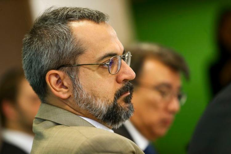 O ministro da Educação, Abraham Weintraub, durante apresentação do Compromisso Nacional pela Educação Básica, hoje, em Brasília - Foto: Marcelo Camargo I Agência Brasil
