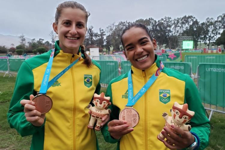 Brasil garantiu um bronze com Isabella Antonietto e Priscila Santana - Foto: Alexandre Castello Branco | COB