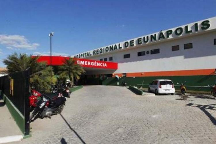 A vítima foi encaminhada para o Hospital Regional de Eunápolis - Foto: Reprodução