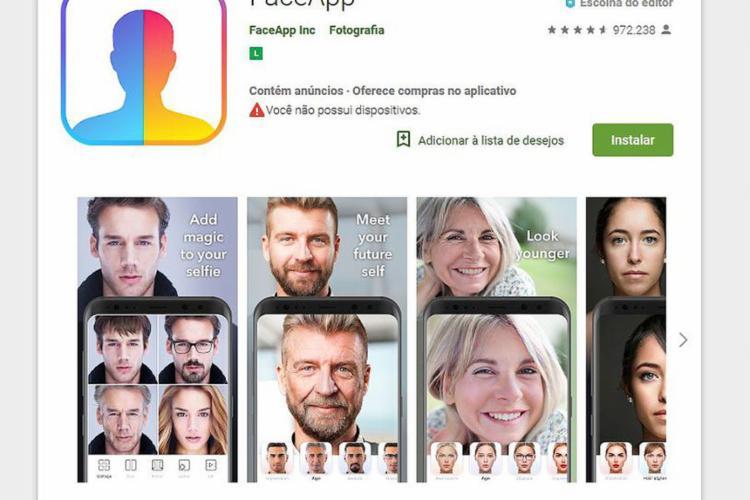 Para especialistas, app compartilha informações sem consentimento - Foto: Reprodução l FACE App