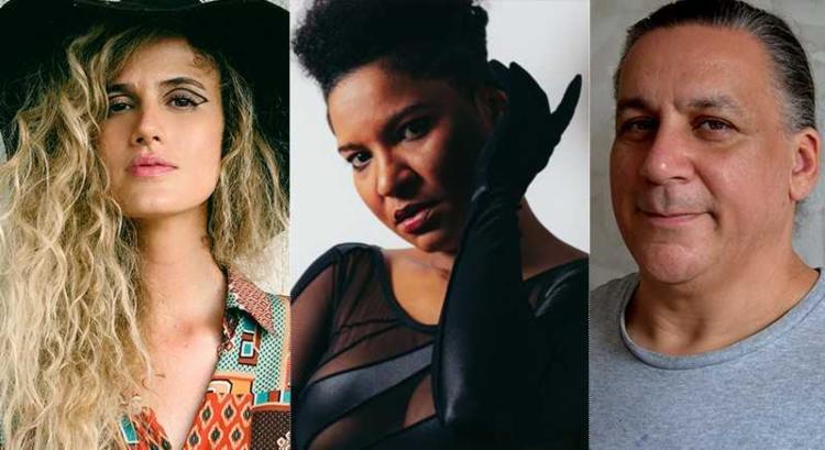 Ana Cañas, Larissa Luz e Renato Braz são as atrações musicais da FLIGÊ - Foto: Divulgação