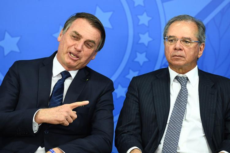 Na ocasião, o presidente negou declarações sobre acabar com a multa de 40% do FGTS - Foto: Evaristo Sá | AFP