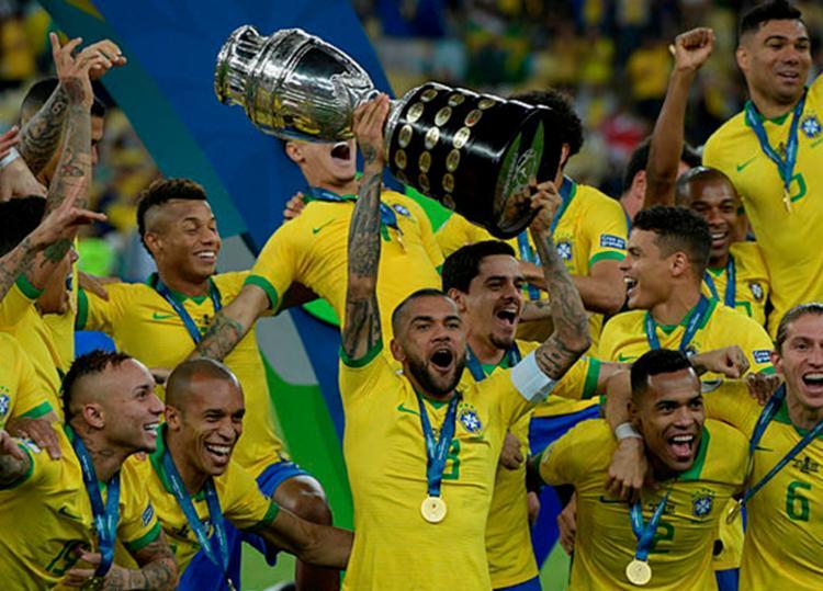 Brasil chegou aos 1.726 após título da Copa América - Foto: Juan Mabromata   AFP