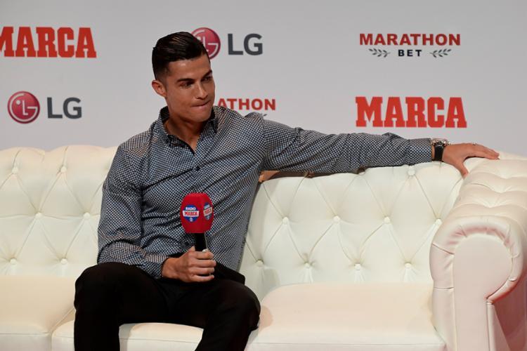 Cristiano esteve em Madri, recebeu a maior honraria da imprensa espanhola - Foto: Javier Soriano | AFP