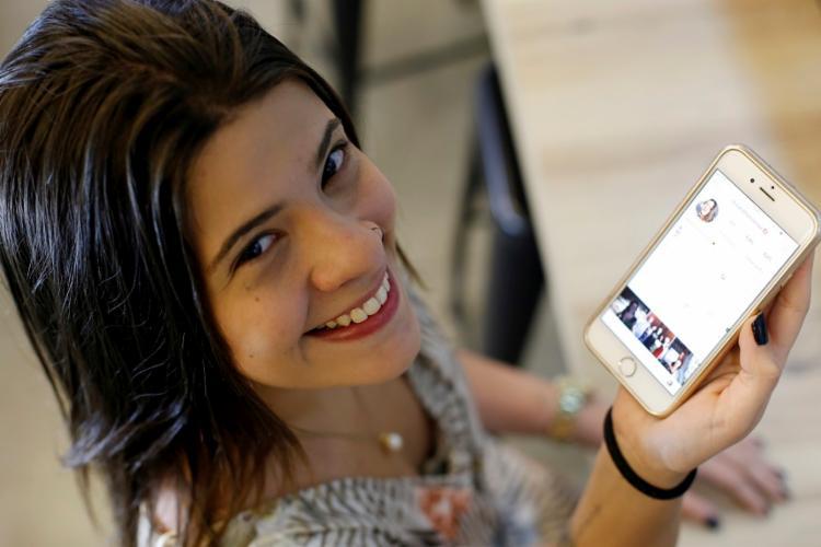 Para Milena Moutinho, a conversa é mais espontânea no Instagram