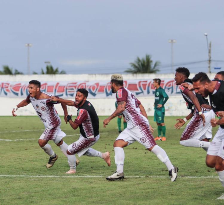 O gol da classificação foi anotado pelo meio-campista Eudair - Foto: Reprodução | Twitter