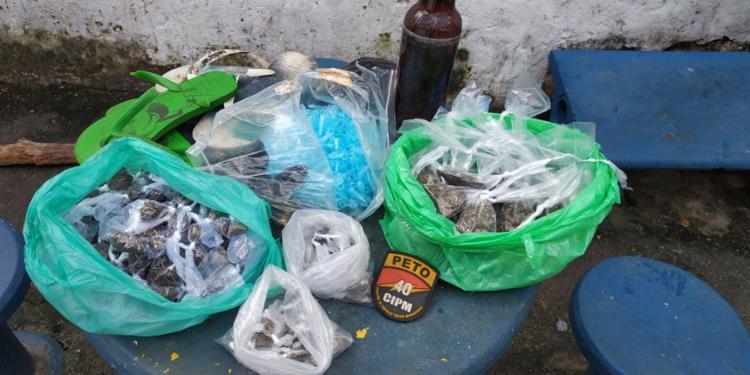 Todo material encontrado foi encaminhado para a 28ª Delegacia Territorial - Foto: Divulgação | SSP