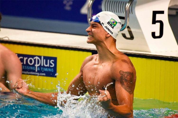 Marco Antônio Júnior ganhou bronze na prova de 100 metros nado livre - Foto: Saulo Cruz l CBDU l Portal Governo