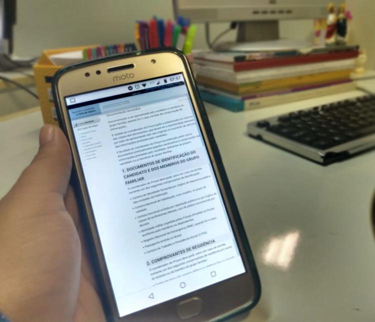 A lista com a documentação necessária está disponível na página do ProUni - Foto: Keyla Pereira | Ag. A TARDE
