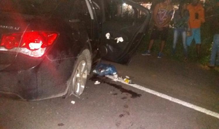 Acidente aconteceu no trecho da cidade de Jeremoabo, próximo da Serra da Santa Cruz - Foto: Reprodução | Blog do Manoel Alves