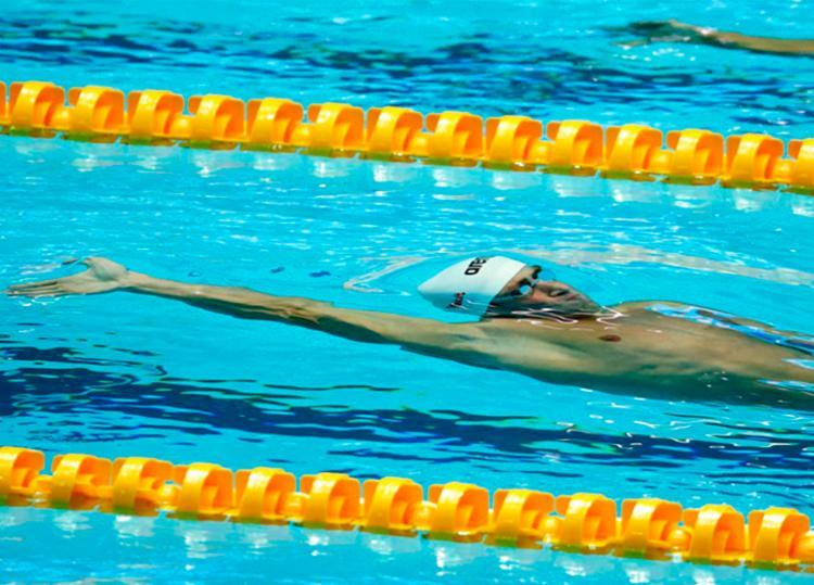 Guido chegou a virar em segundo lugar mas caiu de rendimento nos 50 metros finais - Foto: Satiro Sodré | rededoesporte.gov.br