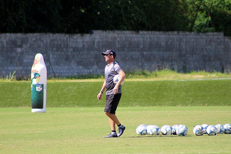 Treinador focou a marcação na atividade desta quarta-feira, 17 - Foto: Divulgação l EC Vitória