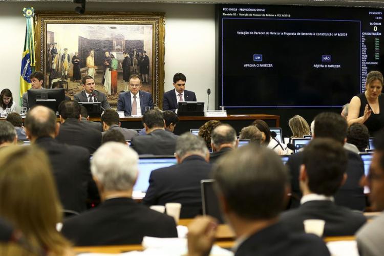 Comissão aprovou, por 36 votos a 13, o texto-base para mudar as regras de aposentadoria - Foto: Marcelo Camargo l Agência Brasil
