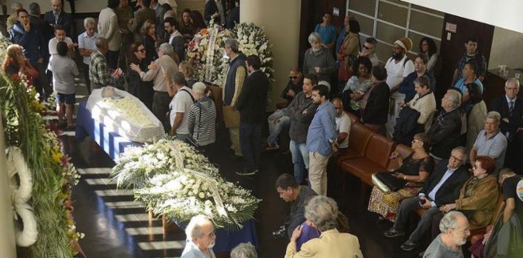 O velório foi realizado na sede da Associação Brasileira de Imprensa (ABI) - Foto: Tomaz Silva l Agência Brasil