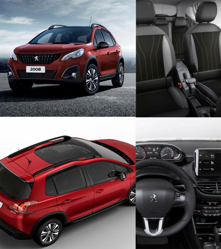 Peugeot 2008 recebeu retoques na grade dianteira e capô, que deixaram o modelo mais imponente; o interior mantém bom acabamento, com novos tecidos nos bancos - Foto: Dviulgação